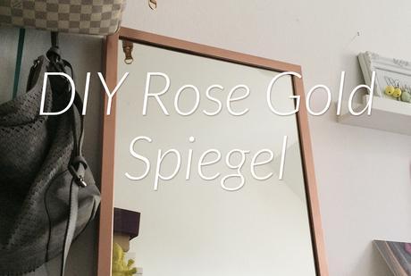 Diy Spiegelrahmen In Rose Gold