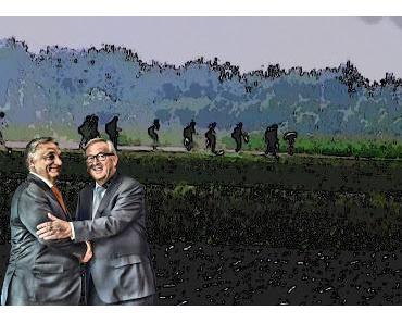 Wie Orban der Europäischen Gemeinschaft auf dem Kopf rum tanzt