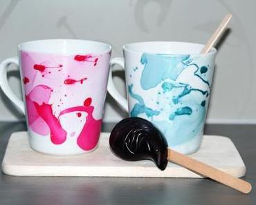 Tassen marmorieren mit Nagellack