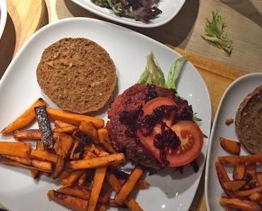Clean Eating Rezept: Würzige Rote-Beete-Burger ohne Fleisch