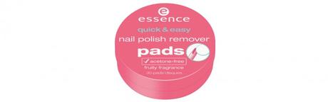 essence Sortimentswechsel Frühling Sommer 2016 Neuheiten - Preview - quick & easy nail polish remover pads