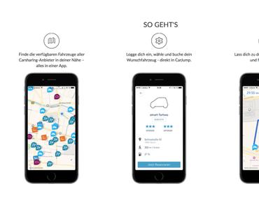 Kurznachrichten: Carsharing App CarJump mit Finanzierung
