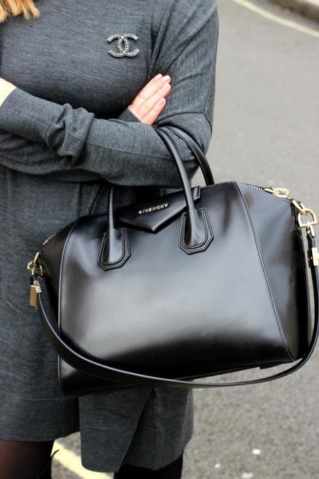 grey dress & other stories frankfurt blogger chanel brosche 5
