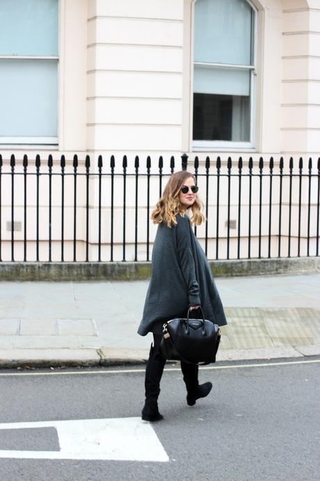 grey dress & other stories frankfurt blogger chanel brosche 7