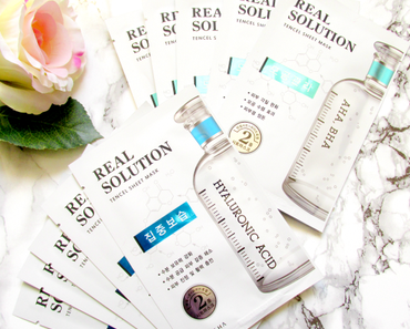 Missha - Real Solution Tencel Sheet Masken - AHA/BHA & Hyaluronic Acid