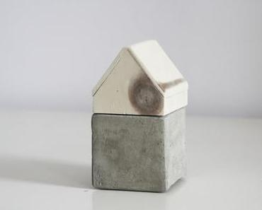 Beton trifft Holz: Aufbewahrung mit Material-Mix