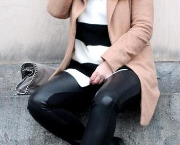 OUTFIT – CAMEL COAT x BLACK.