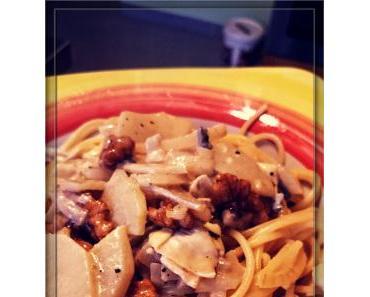 Spaghetti mit Birnen-Walnuss-Sauce [Vegetarisch kochen]