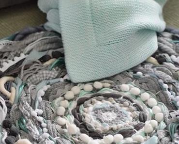 Runder Webteppich  DIY-  circular weaving, a rag rug