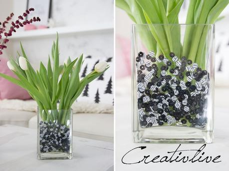 DIY Paillettenvase