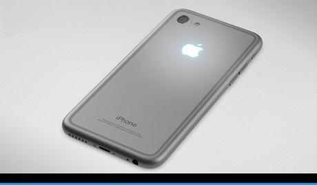 iPhone 7 Rückseite in Silber Grau