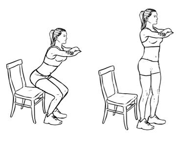 "Sunday Challenge ""Chair Squat"""