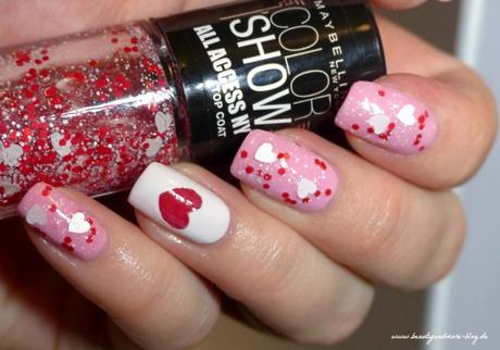 Valentines Day Nails - NOTD Maybelline