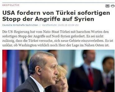 Erdowahn provoziert Eskalation mit Russland - Türkei führt Militärschläge gegen Syrien
