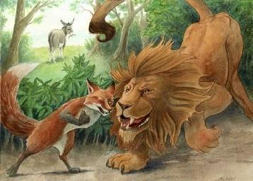 Vom Esel, vom Fuchs und vom Löwen | Falschheit und Verrat | Fabel von Aesop
