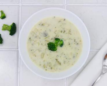 Brokkoli Kokos Suppe mit Limette und Ingwer