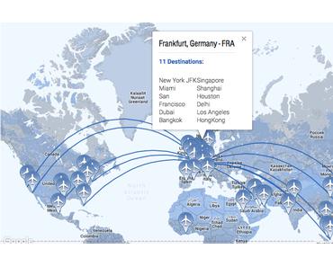 Wo fliegt der A380 von Deutschland hin? Oder wohin geht der nächste Urlaub ohne Raspberry Pi?