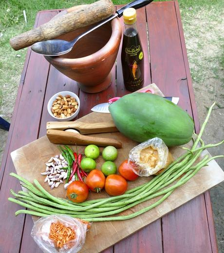 My favorite ingrediences for Papaya salad