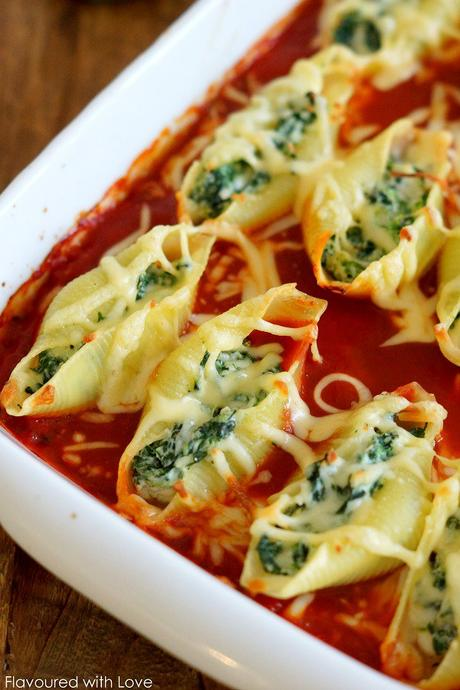 cannelloni mit spinat ricotta füllung