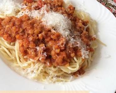 [Food] Rote Linsenbolognese mit Spaghetti