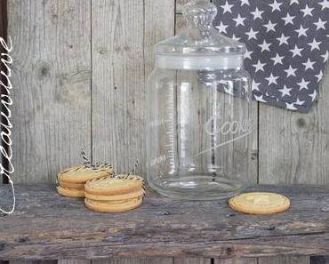 Cookie Glas und Stempel-Kekse