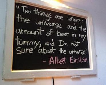 Albert Einstein und das Bier