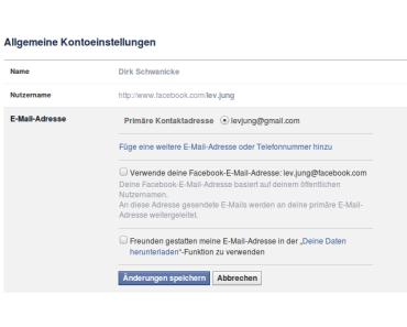 Facebook beendet die eMail-Weiterleitung zum 01. Mai 2016