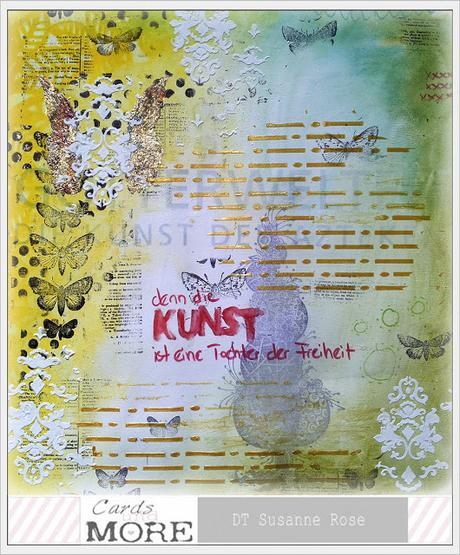 Art Journal Page mit Gelatos