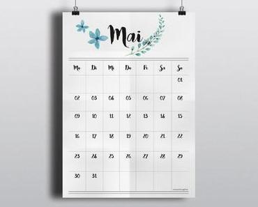Freebie Kalender 2016 – Mai und Juni