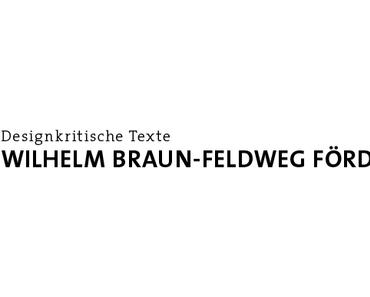 Deadline Braun-Feldweg Förderpreis
