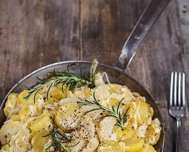 Würzige Bratkartoffeln mit Käse