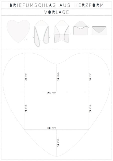 diy briefumschlag aus einem herz falten. Black Bedroom Furniture Sets. Home Design Ideas