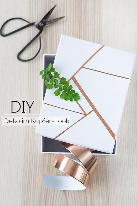 diy quickie schnelle deko mit kupferschneckenband. Black Bedroom Furniture Sets. Home Design Ideas