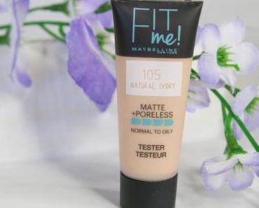 Review //  Fit Me Matte + Poreless in der Nuance 105 von Maybelline