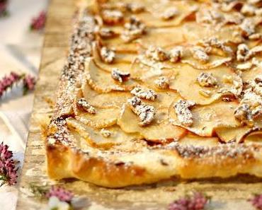 Apfeltarte mit Ricotta & Walnüssen - Der Kuchen-Quickie