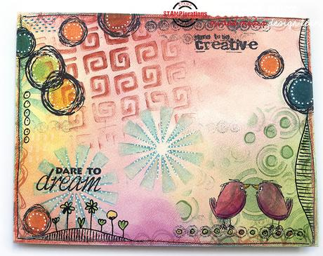 Mail Art Envelope with PanPastels and STAMPlorations