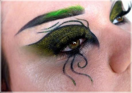 Slytherin Augen Make-up