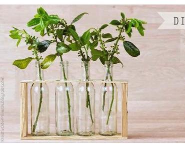 Holz-Vase mit Gewinnerbekanntgabe