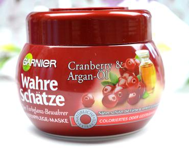 Review: Garnier Wahre Schätze: Der Farbglanz Bewahrer - Tiefenpflege Maske mit Cranberry & Argan Öl