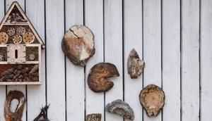 Gartendeko Holzfundstücken