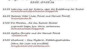 """Blogtour """"Erkül Bwaroo""""-Reihe Heute Agatha Christie Hercule Poirot"""