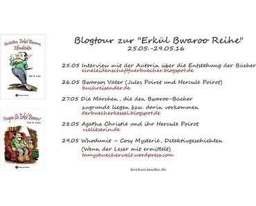 """Blogtour zur """"Erkül Bwaroo""""-Reihe - Heute Agatha Christie und ihr Hercule Poirot"""