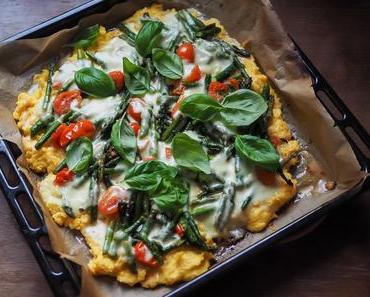 Polenta Pizza with Asparagus