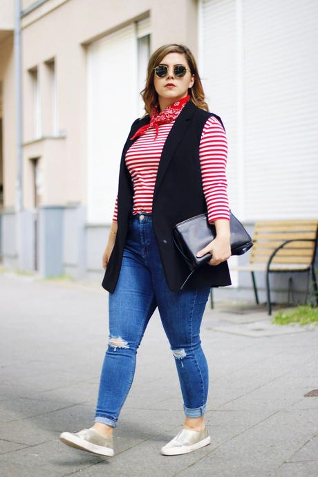 Red Stripes & Céline Trio Bag
