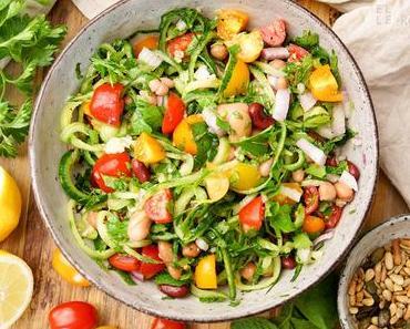 Bohnensalat mediterrane Art