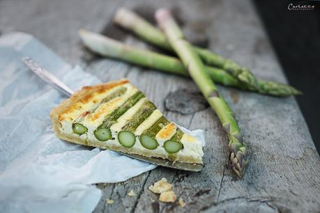 Spargel Quiche mit Käse