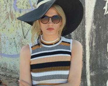 Schwarzer Schlapphut Outfit - Summer with hat