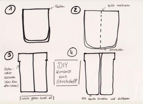 DIY Kimono aus Strickstoff nähen