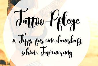 Tattoo Pflegen Aber Richtig Mit Diesen 10 Pflegetipps Hast Du
