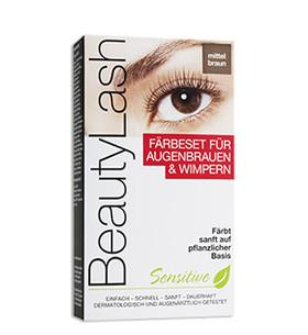 BeautyLash Sensitive Färbeset mittelbraun